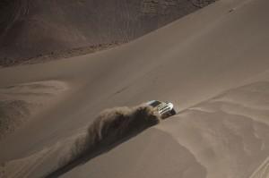 Guiga e Youssef durante o Rally Dakar 2014 - Crédito: Victor Eleuterio / Mitsubishi