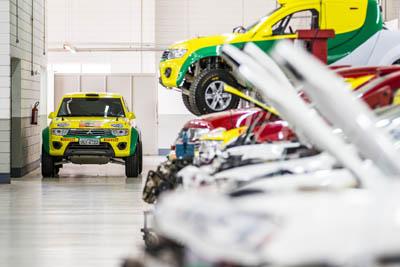 Equipe será responsável por projetar, fabricar, desenvolver, preparar e customizar veículos que encarem os mais difíceis desafios no asfalto e na terra - Foto: Murilo Mattos / Mitsubishi
