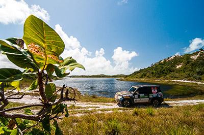As belas paisagens de Aracaju conquistaram os competidores - Foto: Cadu Rolim/Mitsubishi