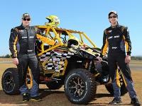 Deninho Casarini e Eduardo Shiga, competidores da equipe Can-Am no Rally dos Sertões 2014 Foto: Idário Café/Mundo Press