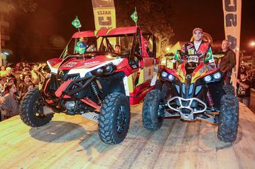 O UTV (E) e o Quadriciclo (D) da Can-Am já estão preparados - Foto: Donizetti Castilho