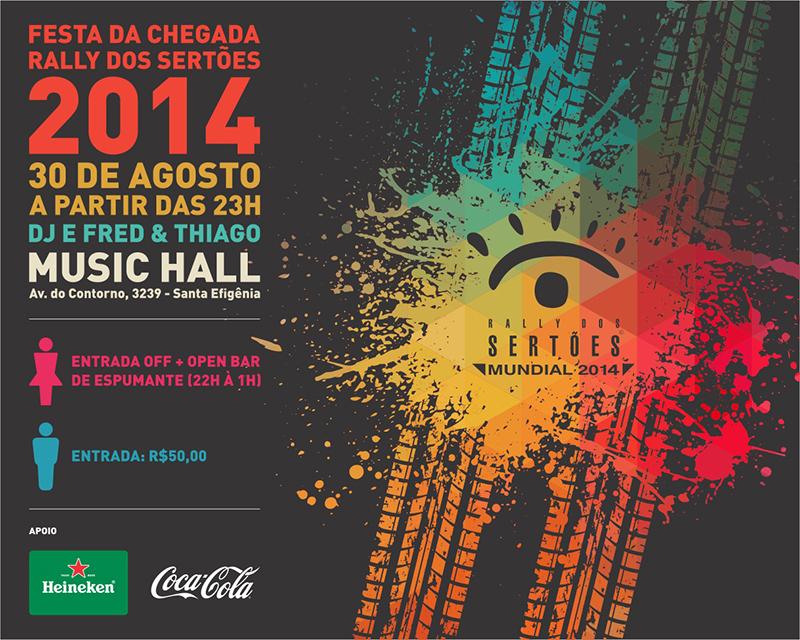 Festa será no Music Hall em BH