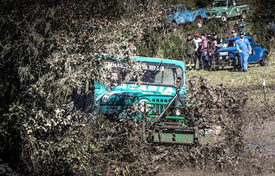 O que não faltou foi coragem dos aventureiros nas travessias de lamas - Photo Trilha