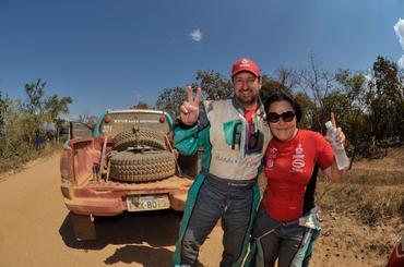 Fontoura e Minae comemoram o título ao término da Especial - Foto: Ricardo Leizer/Webventure