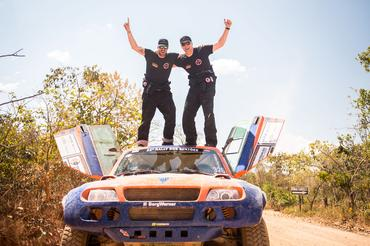 Irmãos Terpins pilotaram o T-Rex no Sertões 2014 - Foto: Magnus Torquato/Webventure
