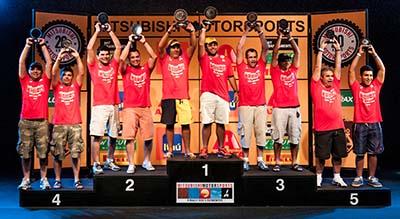 Os melhores de cada categoria sobem ao pódio e são premiados - Foto:  Ricardo Leizer/Mitsubishi