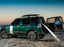 Veículo com acessórios que facilitam a prática esportiva - Foto: Pablo Vaz / Mitsubishi