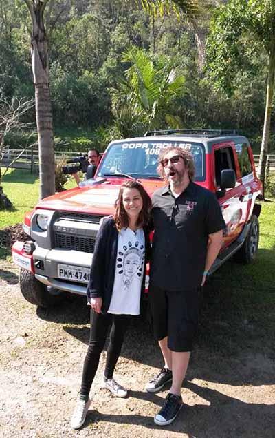 O apresentador participou da categoria Expedition e correu em dupla com a também apresentadora Sofia Reis