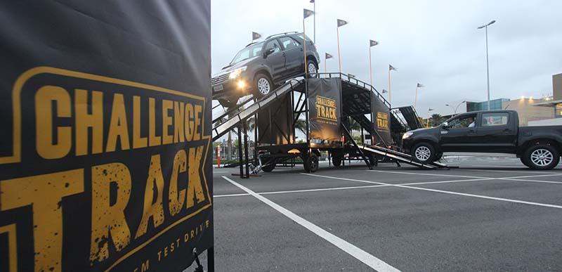 O Challenge Track é uma grandiosa estrutura de aço, totalmente versátil e modular, composta por 10 obstáculos que recriam as condições extremas de um ambiente off-road - Fotos : Mais Off Road