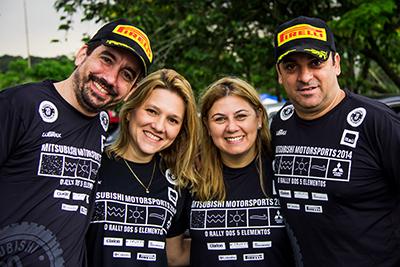 Famílias e amigos se encontram para um dia diferente no rali de regularidade - Foto:  Adriano Carrapato/Mitsubishi