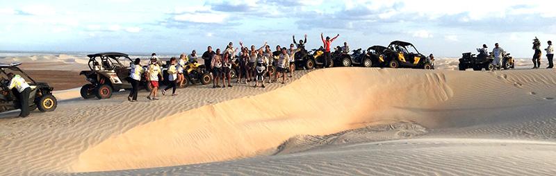 Grupo explora paisagens do Ceará e Rio Grande do Norte a bordo de quadris e UTVs Can-Am
