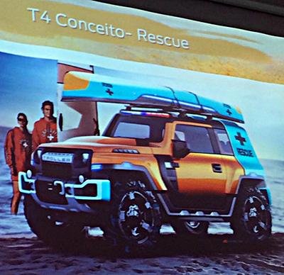 Troller conceito Rescue em exposição no salão do Automóvel em SP