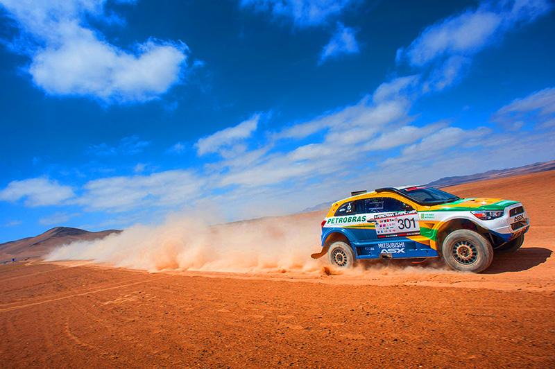 Equipe Mitsubishi Petrobras validou as mudanças feitas no carro - Foto:  Gustavo Epifanio/Mitsubishi