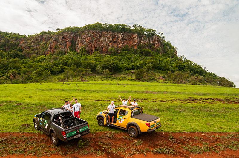 Trilhas com paisagens belas marcaram a etapa - Foto:  Cadu Rolim/Mitsubishi