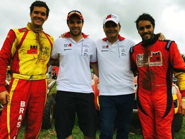 Bruno (Esq), Gabriel, Reinaldo e Rodrigo (Dir) Varela