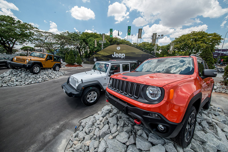 Haverá atrações da Jeep para o público