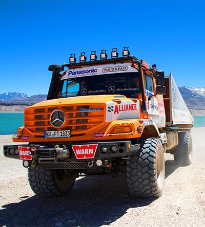 Zetros 4x4 em sua expedição off road passando pela Laguna Santarosa