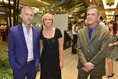 Humberto Campana, Corinna Sagesser e Fernando Campana - Foto:  Cleiby Trevisan/Mitsubishi