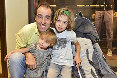 Fernando Meligeni com os filhos Alice e Gael - Foto:  Cleiby Trevisan/Mitsubishi