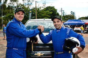 Pela primeira vez no rali cross country, a dupla Fábio Simsen e Fábio dos Santos - Foto:  Luciano Santos