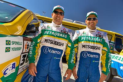 Guiga e Youssef estão prontos para o Rally dos Sertões - Foto:  David dos Santos Jr. / Mitsubishi