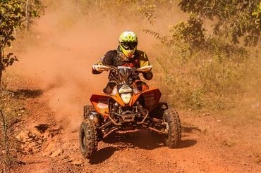 Jérémy Dubois campeão nos quadriciclos (Sanderson Pereira/Photo-S)
