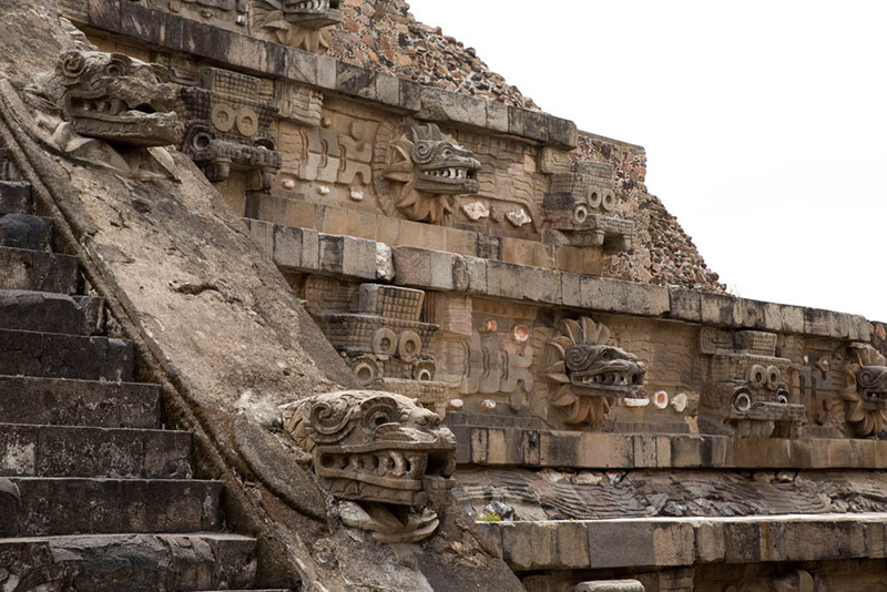 Mexico - Templo de Quetzalcóatl ou Templo da Serpente Emplumada