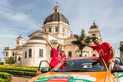 Everaldo Pato Teixeira participou da prova com sua família - Foto: Tom Papp / Mitsubishi