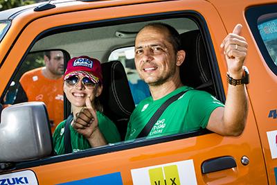 Duplas têm dia divertido a bordo de seus veículos - Foto:  Murilo Mattos / Suzuki