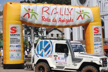 O Sol raiou forte no Rally Rota da Amizade, em Joaçaba, SC  (Divulgação)