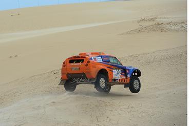 Reinaldo Varela e Gustavo Gugelmin foram os mais rápidos nas areias e dunas (Foto: Fábio Davini)