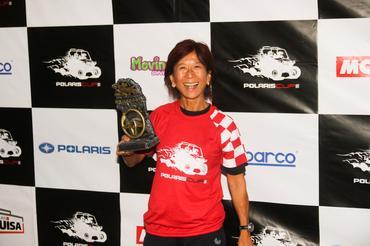 Helena Deyama recebeu o troféu na etapa de Itupeva - Foto: Sanderson Pereira/Photo Esporte