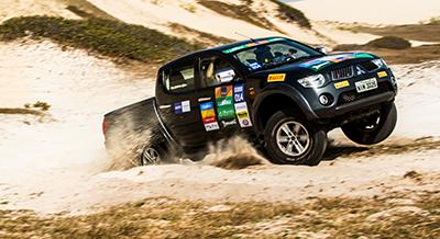 Etapa de Fortaleza (CE) do Mitsubishi Motorsports foi marcada por muita areia - Foto:  Ricardo Leizer / Mitsubishi