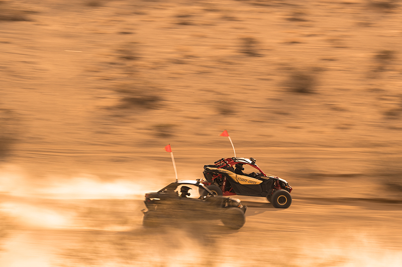 z_Maverick X3 Xrs TURBO R Gold and Can-Am Red - Desert Group Riding 2_9908