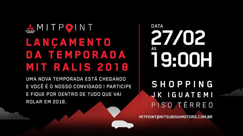 Convite: abertura dos Ralis Mitsubishi será terça, 27/2