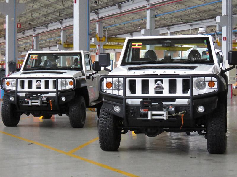São os primeiros veículos RHD para uso civil exportados pela companhia.