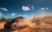 Deni Nascimento e Idali Bosse lideram o Brasileiro de Rally Cross Country com o UTV Can-Am Maverick X3. Crédito: Gustavo Epifânio/DFotos