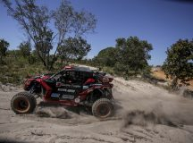 Gabriel Varela e Eduardo Shiga no Rally Jalapão 2019, a bordo do UTV Can-Am Maverick X3.  Crédito: Luciano Santos/DFotos/Mundo Press