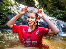 Nem a água fria espantou o ânimo dos competidores - Tom Papp / Mitsubishi