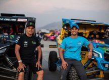 Reinaldo Varela, piloto de Araçatuba (SP) campeão do Rally Dakar, e o filho, Bruno Varela (à direita), estão confirmados no Rally Poeira 2019. Crédito: Vinícius Branca/DFotos/Mundo Press