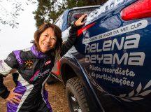 Helena Deyama também foi homenageada durante a etapa - Tom Papp/ Mitsubishi
