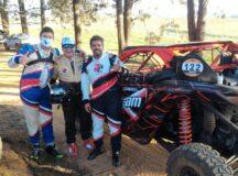 (Esq. p/ dir.) Os três pilotos de UTV Richard e Moses Fliter e Gustavo Zanforlin (Divulgação)