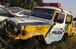 Frota da Polícia Militar do Paraná vai a leilão