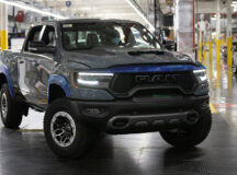 The first – VIN #0001 – Ram 1500 TRX Launch Edition, adorned in an exclusive Anvil exterior paint, rolls of the line at FCA's Sterling Heights (Mich.) Assembly Plant. FCA invested nearly $1.5 billion to retool the plant to build the next generation Ram 1500, which launched in 2018, and support the future growth of the Ram brand.