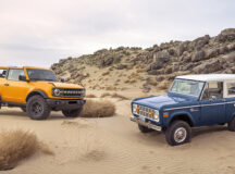Pre-production 2021 Bronco two-door SUV takes its rugged off-road design cues from the first-generation Bronco, the iconic 4x4 that inspired generations of fans.