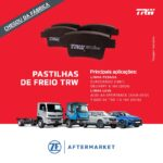 ZF Aftermarket amplia linha de pastilhas de freio TRW